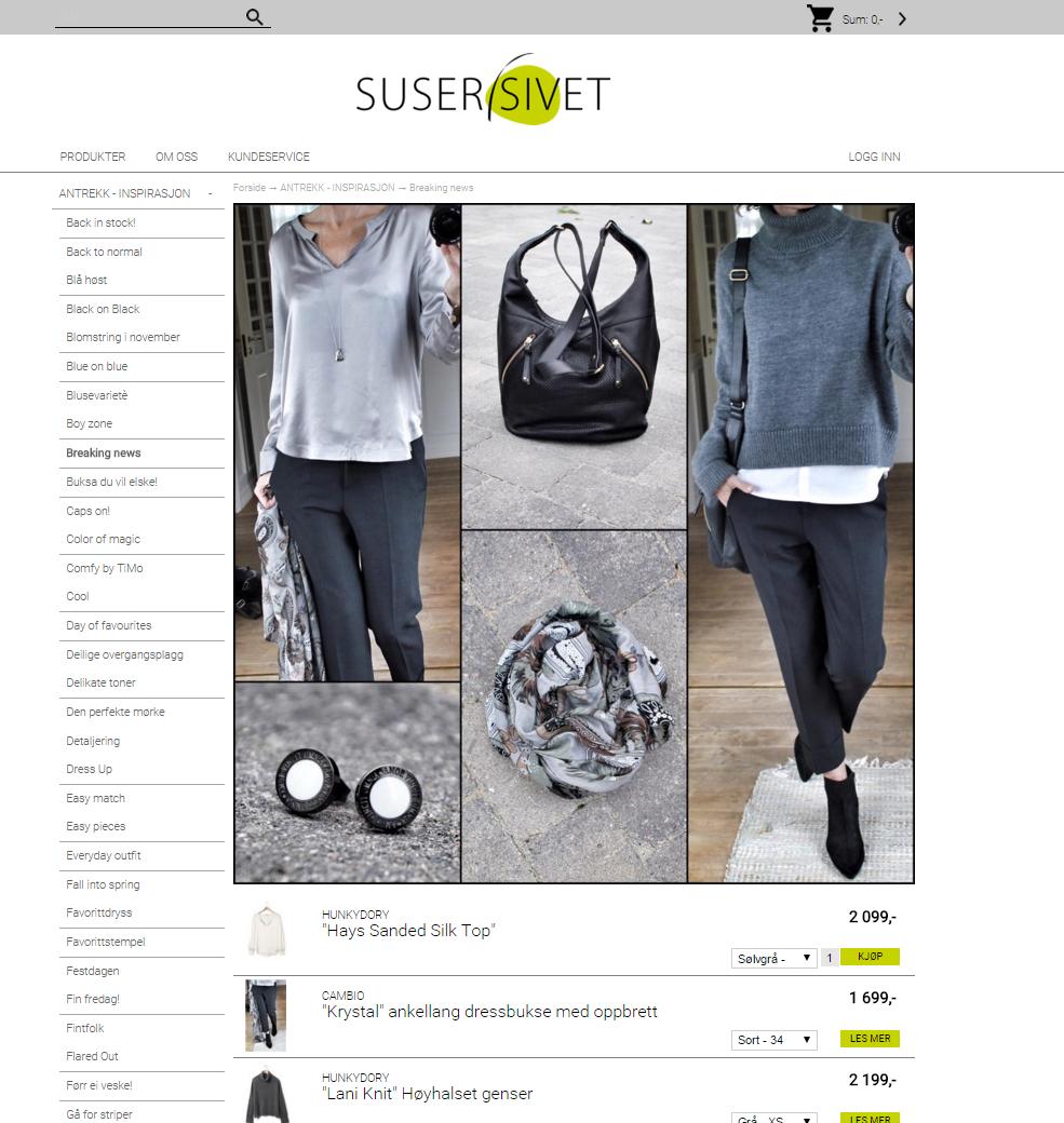 Nettbutikk klær Suser i sivet Digitroll