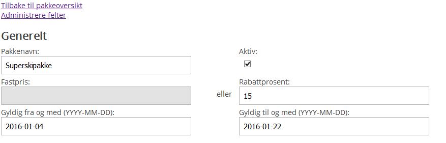 pakkeinstillinger pakkebygger nettbutikk Digitroll